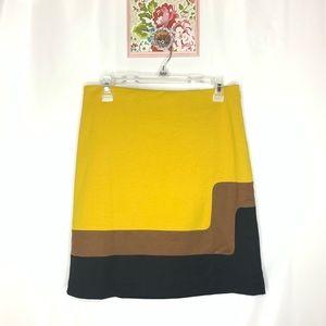 LOFT Colorblock Mod Skirt